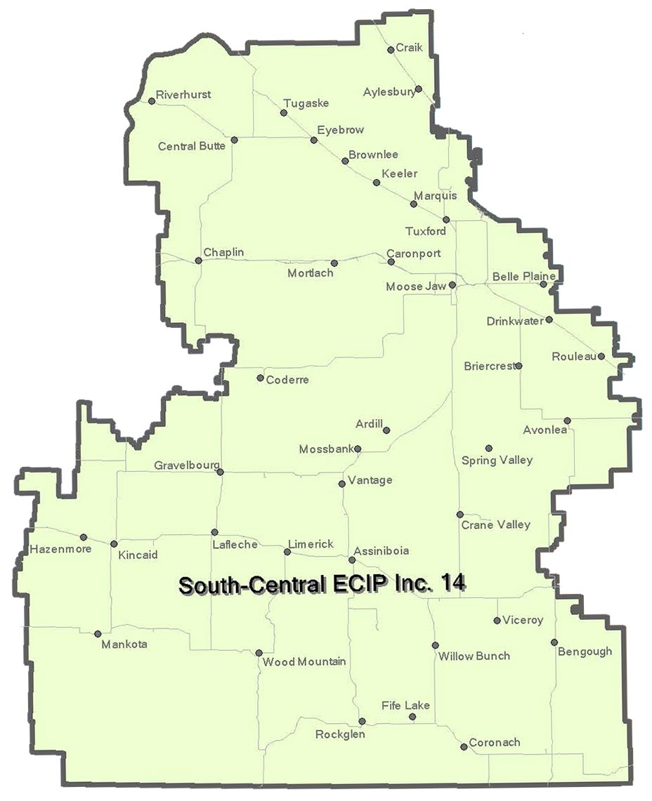 South Central ECIP Map
